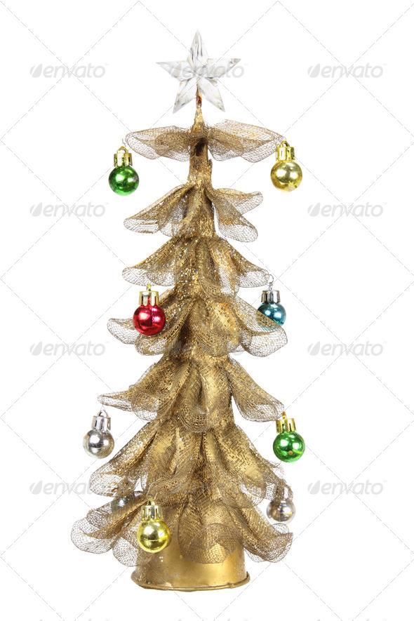 Miniature Christmas Tree - Stock Photo - Images