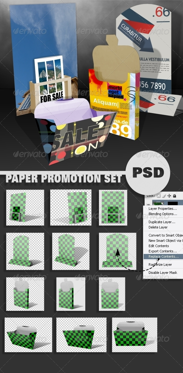 Paper Promotion Set - Miscellaneous Packaging