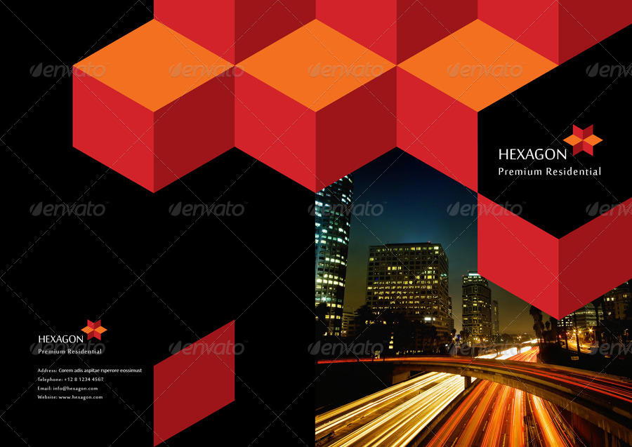 hexagon brochure 16 pages by black3ye
