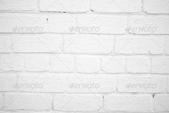 White Brick Wall Pattern - Stone Textures