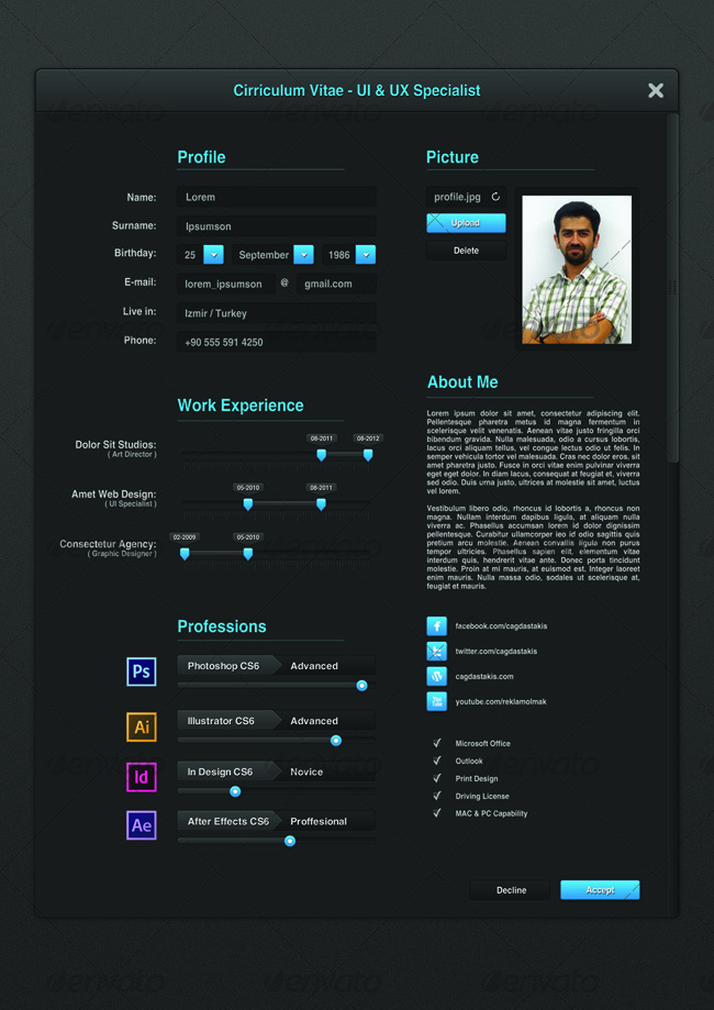 UI Designer Resume   Resumes Stationery · 01_preview1 ...  Ui Designer Resume