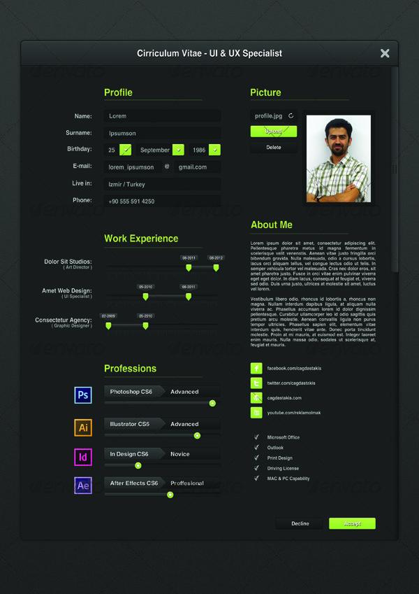 ui designer resume resumes stationery 01_preview1jpg