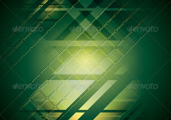 Bright green hi-tech background. Vector design - Technology Conceptual