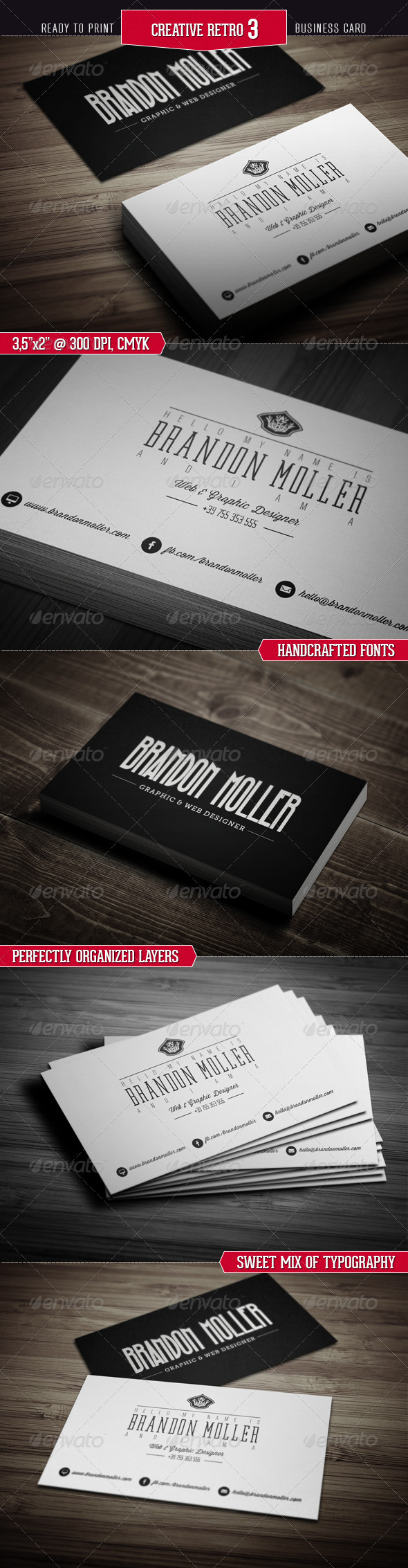 Creative Retro Business Card 3 - Creative Business Cards