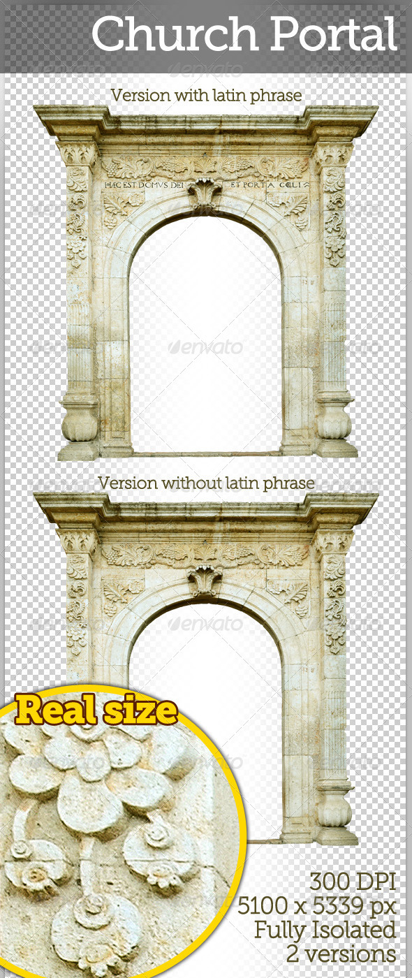 Church Portal - Miscellaneous Isolated Objects