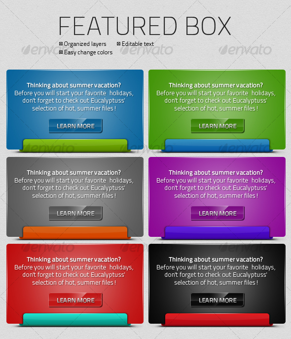 Featured Box - Forms Web Elements