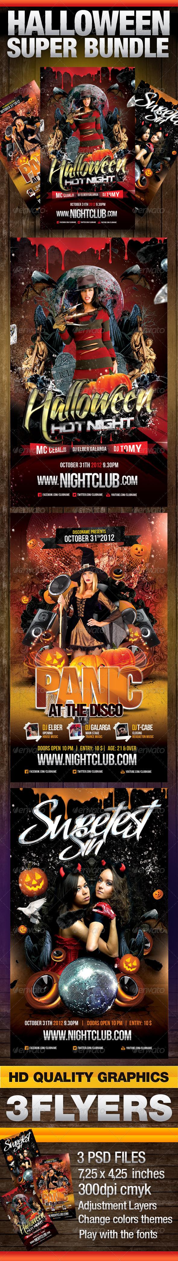 Halloween Super Bundle - Clubs & Parties Events