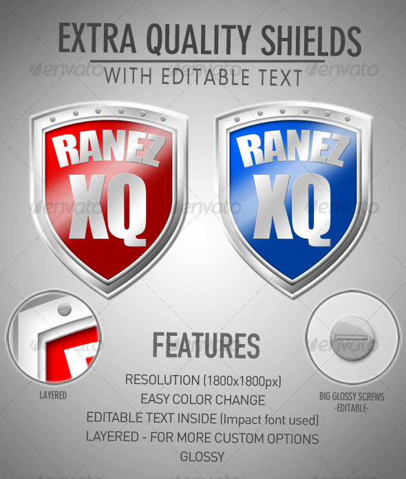 Extra Quality Shields - Objects Illustrations