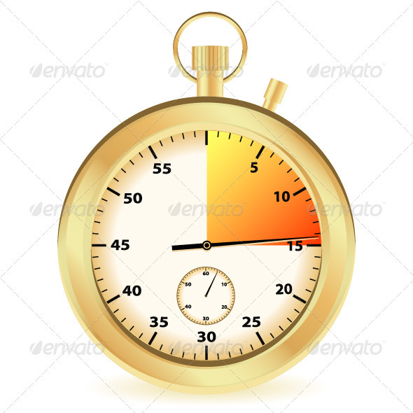 Gold stopwatch - Objects Vectors