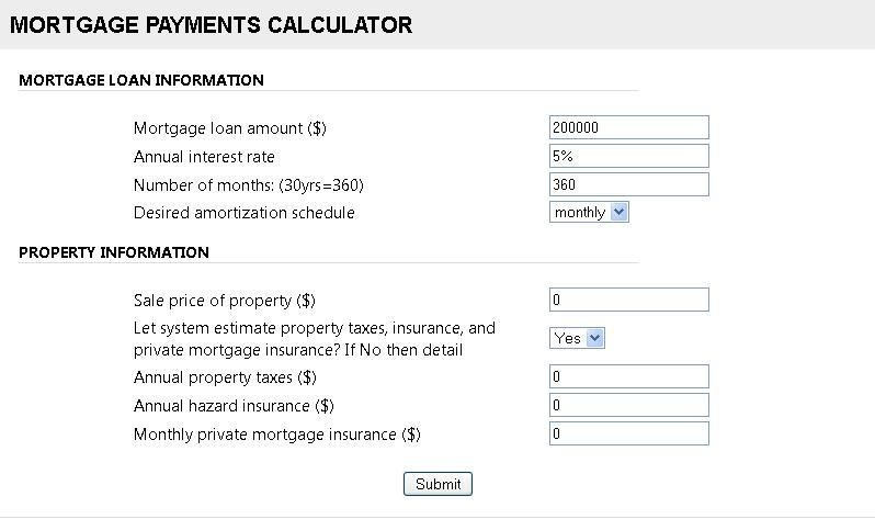 Mortgage Loan Calculator With Extra Payments By Jlords  Codecanyon