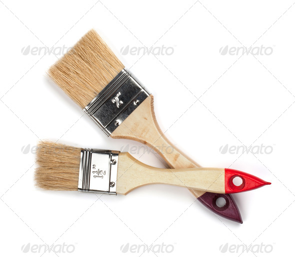 Two paintbrushes - Stock Photo - Images