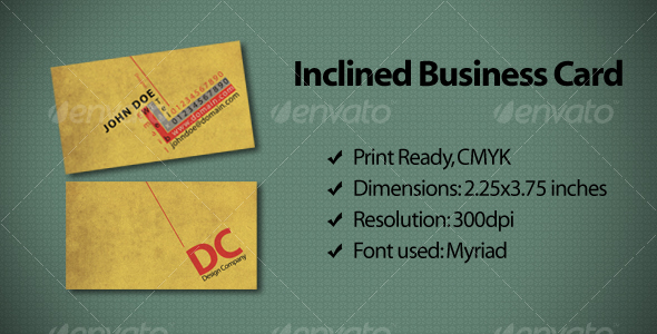Inclined Business Card - Creative Business Cards