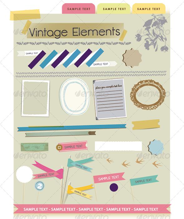 Vintage Element - Decorative Symbols Decorative