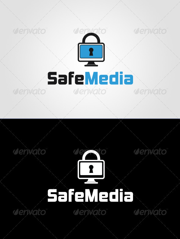 Safe Media Logo Template  - Objects Logo Templates