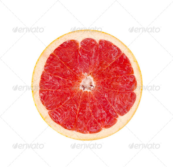 Red Grapefruit Portion - Stock Photo - Images