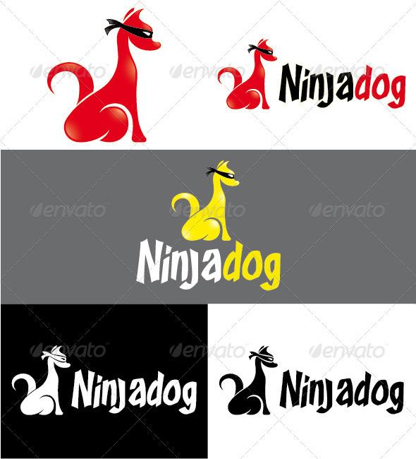 Ninjadog Logo - Animals Logo Templates