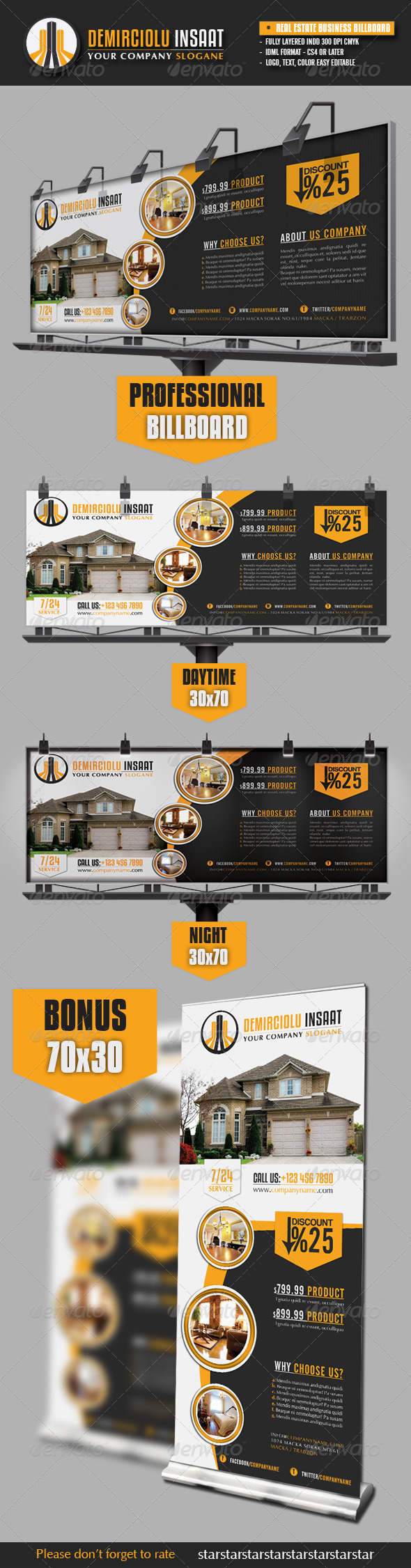 Real Estate Business Billboard - Signage Print Templates