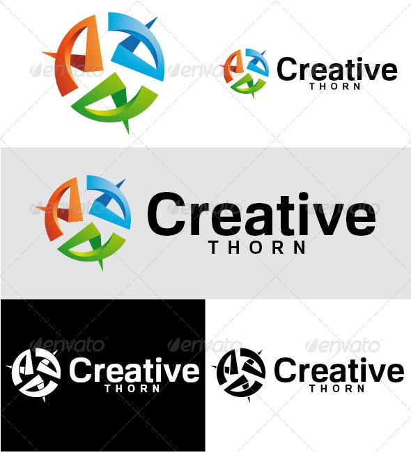 Creative Thorn Logo - Abstract Logo Templates