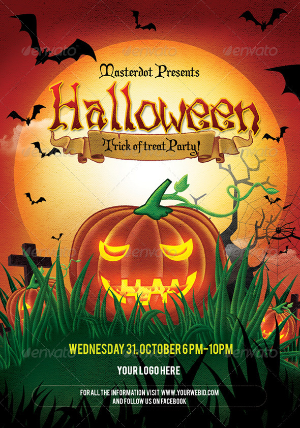 Halloween Day party Poster by masterdot | GraphicRiver
