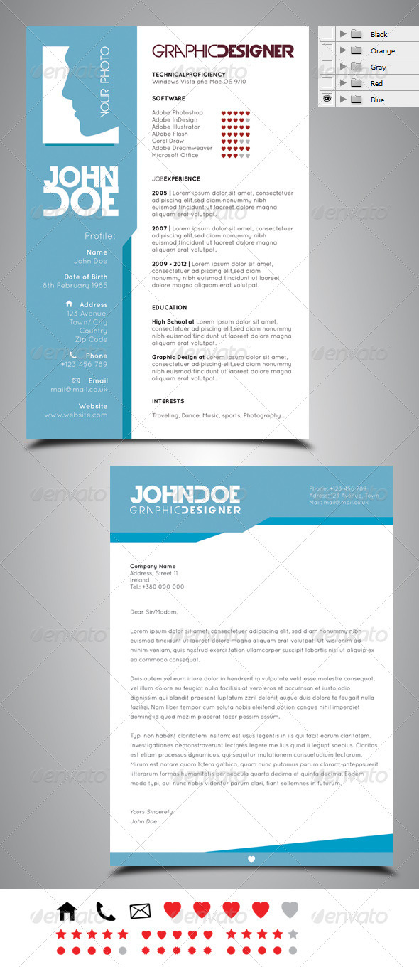 Resume cv design templates by robisklp graphicriver resume cv design templates resumes stationery yelopaper Images