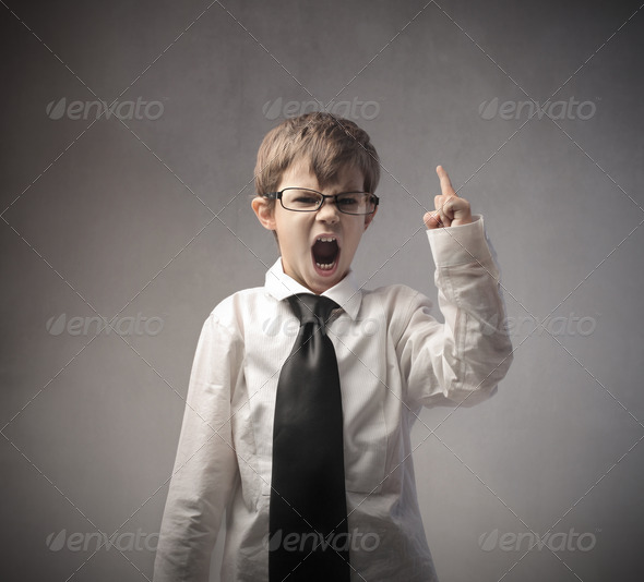 Angry Child - Stock Photo - Images