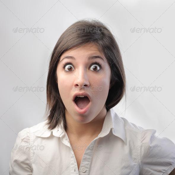 Amazed Girl - Stock Photo - Images