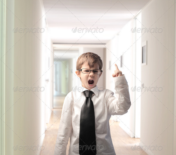 Angry Businesschild - Stock Photo - Images
