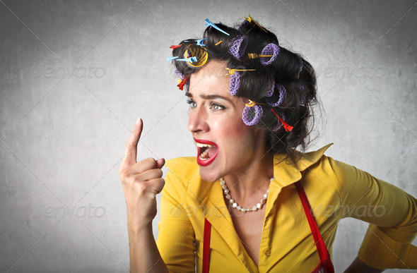 Angry Housewife - Stock Photo - Images