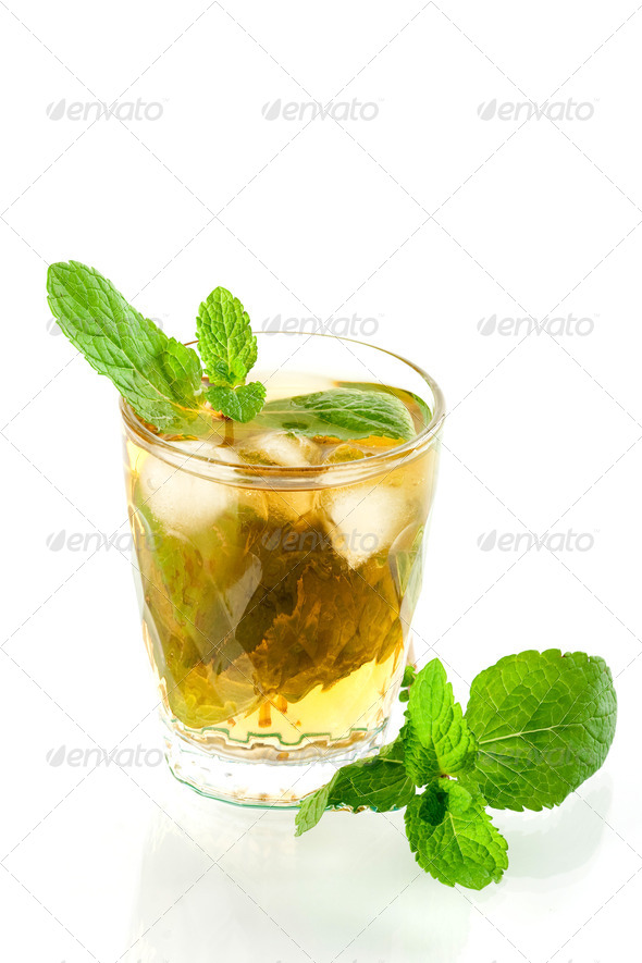 Alcohol cocktail with whiskey and mind - Stock Photo - Images