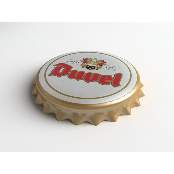 Duvel Beer Bottle Tin Cap - 3DOcean Item for Sale