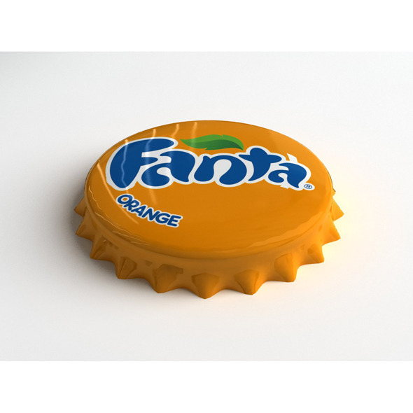 Fanta Orange Bottle Tin Cap - 3DOcean Item for Sale
