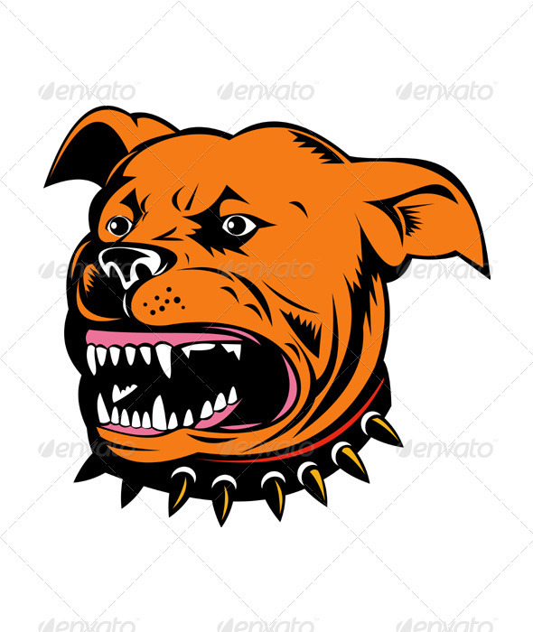Angry Mongrel Dog - Animals Characters