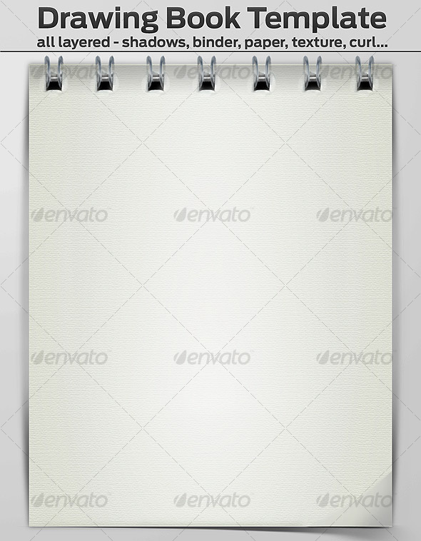 Drawing Book Template - Layered - Miscellaneous Web Elements