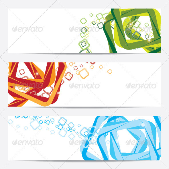 Banner and Background for Web  - Decorative Symbols Decorative