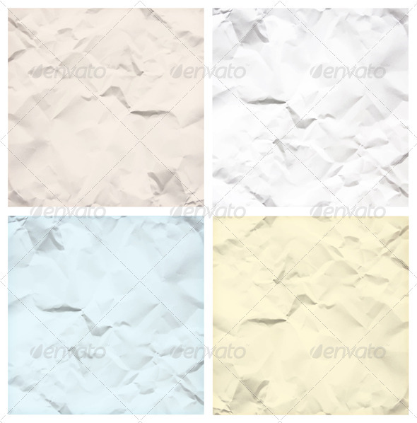 Crumpled Paper Texture Backgrounds - Backgrounds Decorative