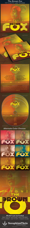 The Brown Fox CD Cover Artwork Template - CD & DVD Artwork Print Templates