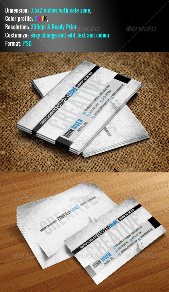 Simple 3 Grunge - Grunge Business Cards