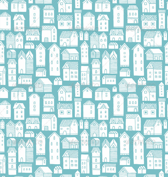 Houses Pattern By Stolenpencil Graphicriver