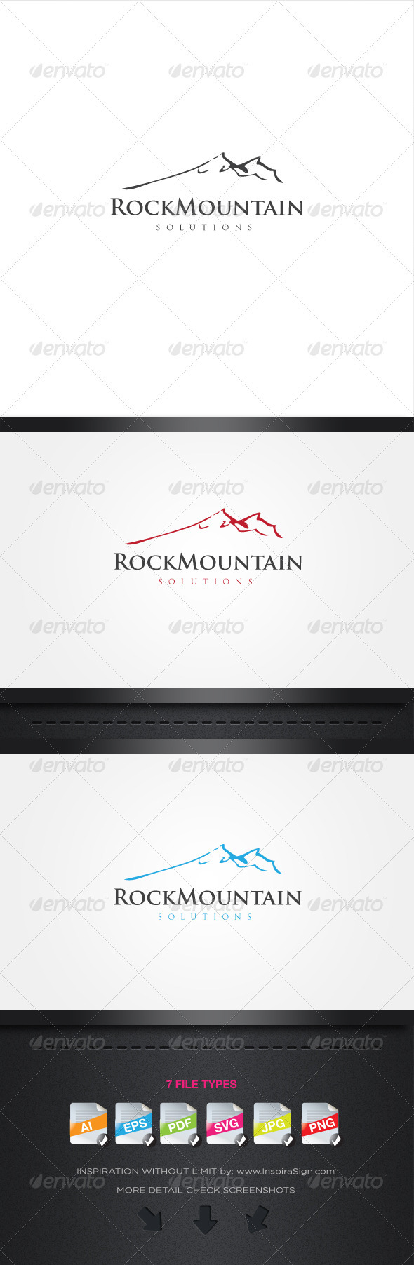 Rock Mountain - Simple Logo For Your Company - Nature Logo Templates