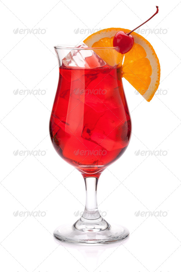 Red tropical cocktail - Stock Photo - Images