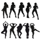 Silhouettes of beautiful girls. - GraphicRiver Item for Sale