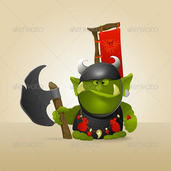 Ork Warrior - Characters Vectors