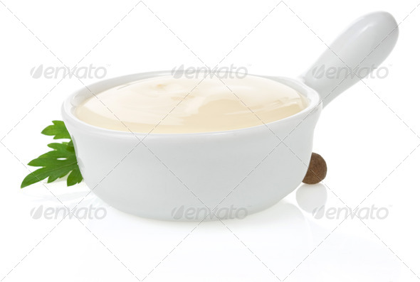 mayonnaise sauce and food ingredient - Stock Photo - Images