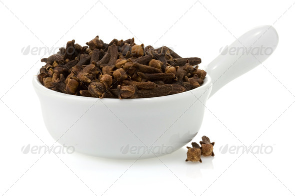 clove spices isolated on white - Stock Photo - Images