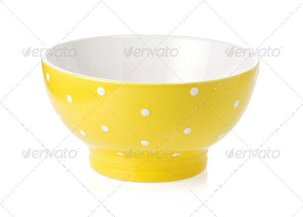 ceramic bowl isolated on white - Stock Photo - Images