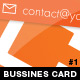 Orange Business Card - pack 1 - GraphicRiver Item for Sale