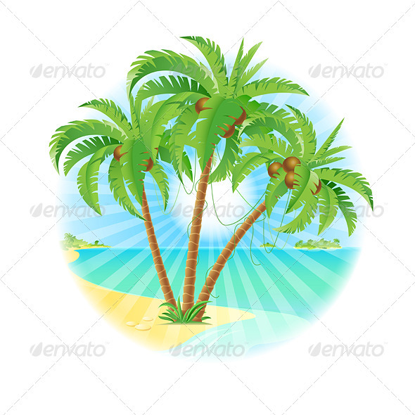 Coconut palm trees - Flowers & Plants Nature