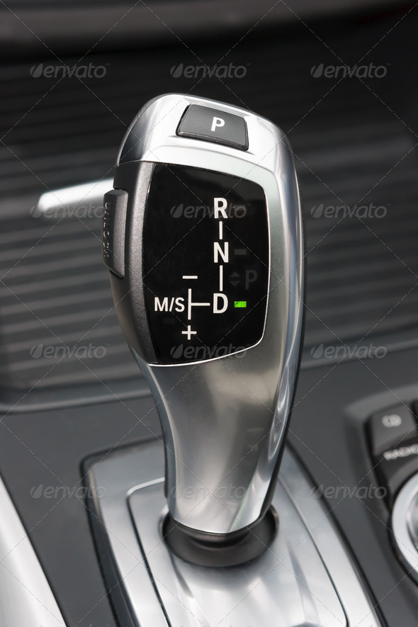 Sportscar gear shifter - Stock Photo - Images