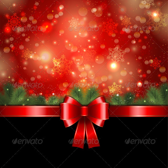 Christmas ribbon background - Christmas Seasons/Holidays