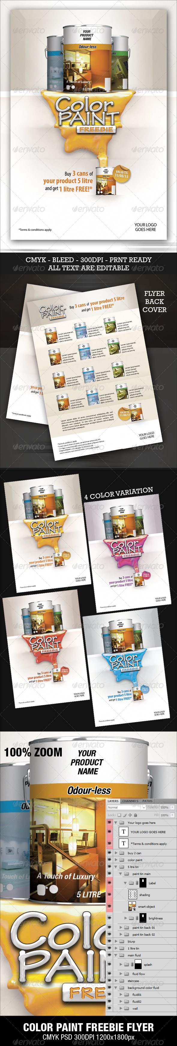 Color Paint Freebie Flyer - Commerce Flyers
